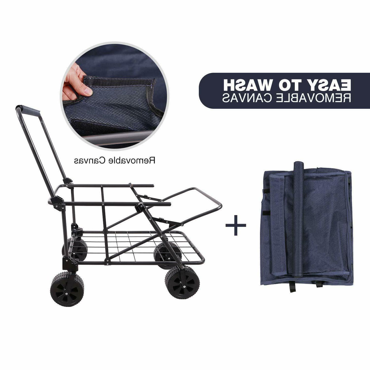 REDCAMP Collapsible Wagon Folding Utility Wagon Camping Beach