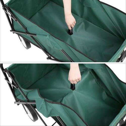 Collapsible Folding Wagon Beach Camp Utility Cart