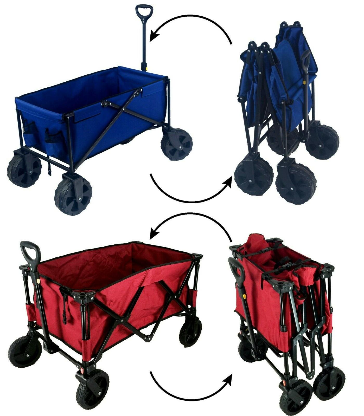 collapsible wagon with all terrain wheels variation