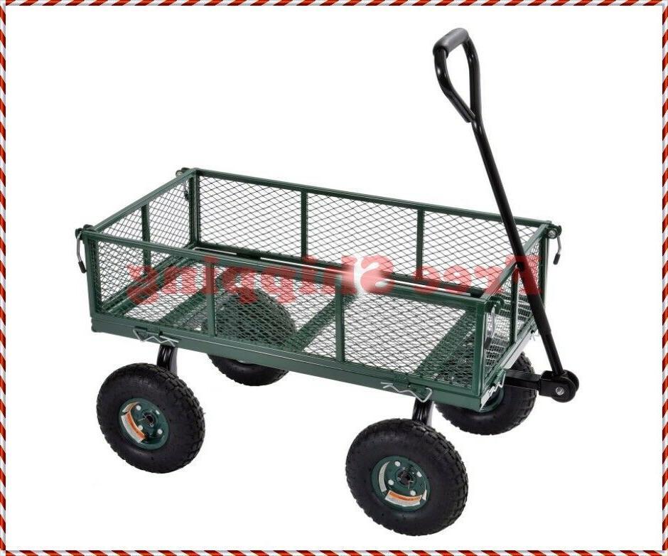 cw3418 muscle carts steel utility garden wagon