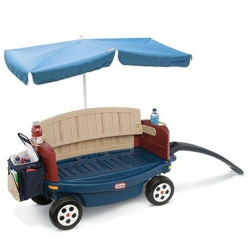 Little Tikes Deluxe Ride & Umbrella Toddlers New
