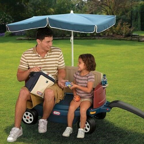 Little Tikes Ride & Relax Wagon with Umbrella New