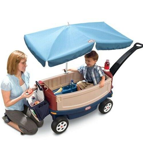 deluxe ride and relax wagon with umbrella