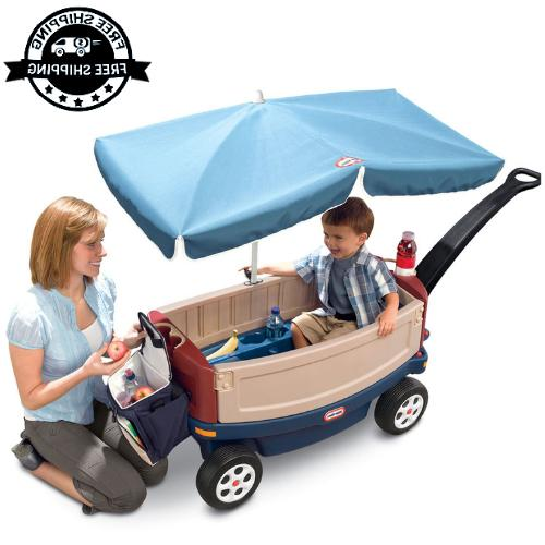 deluxe ride wagon kids toddlers outdoor bench
