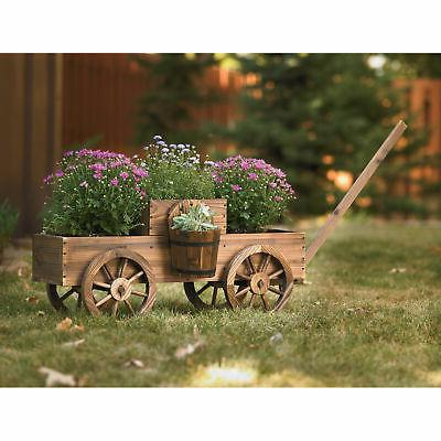 Stonegate 2-Tiered Wooden Wagon T-15N354MB