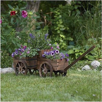 designs 2 tiered wooden wagon planter model