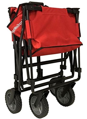 EasyGoWagon 2.0 Folding Wagon - Heavy Duty Utility Wagon Fits Trunk