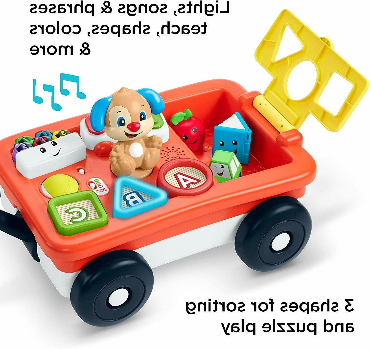 Fisher-Price Laugh & Learn Pull & Play Learning Wagon toy fo