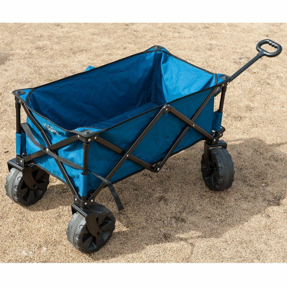 Folding Camping Collapsible Steel Shopping Garden/Beach Wagon/Cart