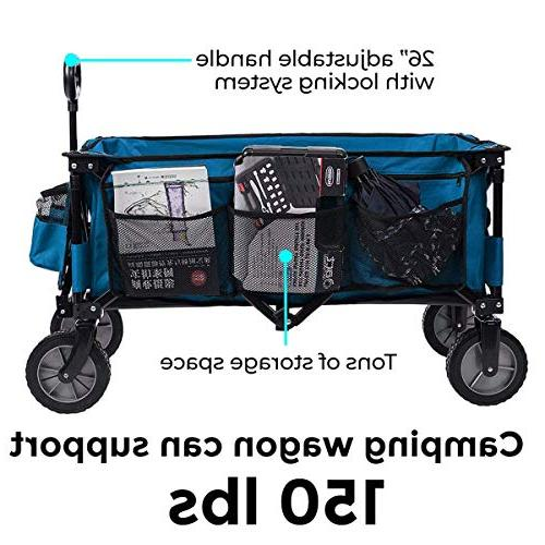 Timber Folding Cart Collapsible Heavy Duty Utility Trolley,