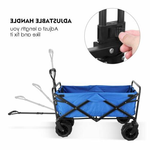 Folding Collapsible Beach Wagon Garden Camping Cart-