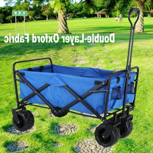 folding collapsible beach wagon garden camping utility