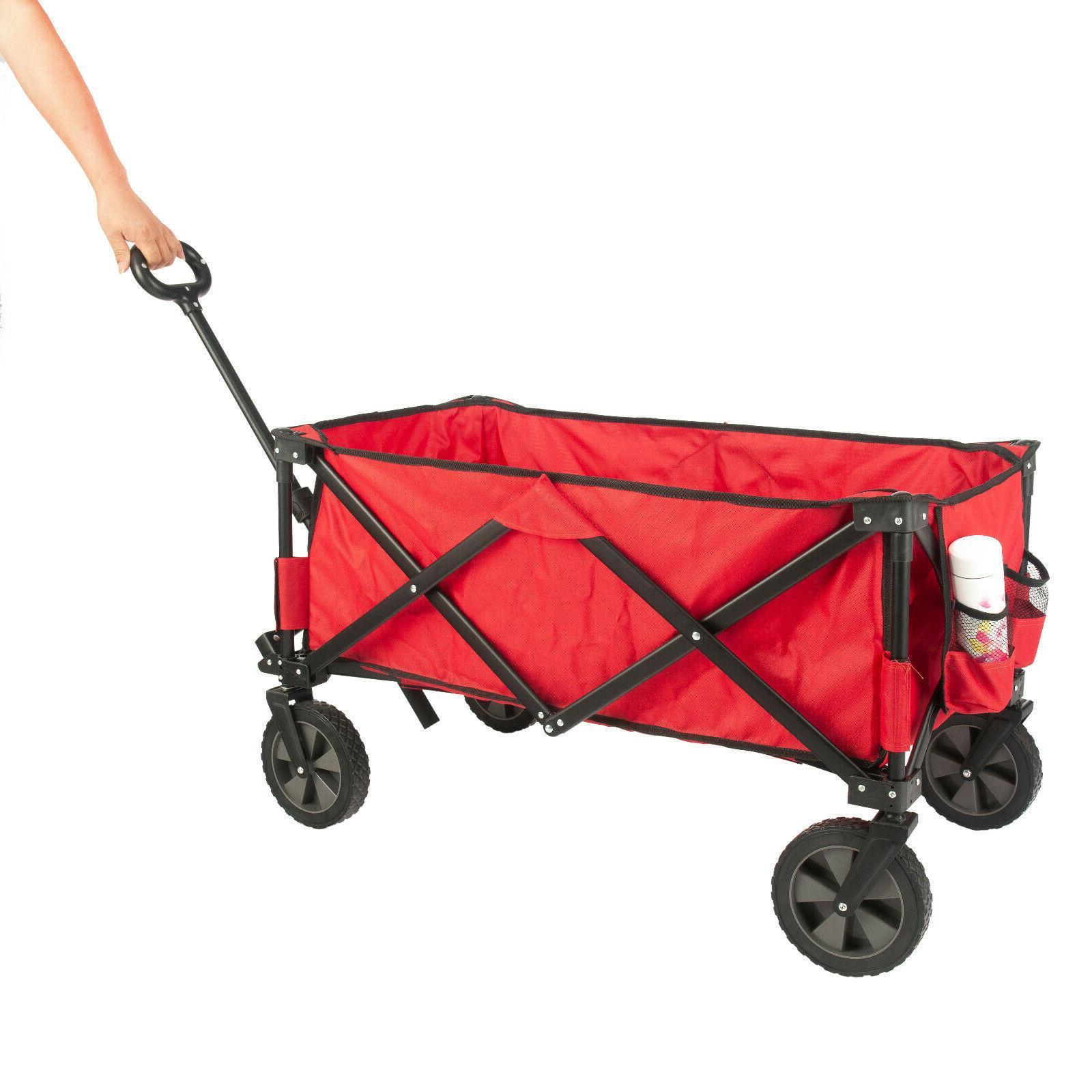 Folding Carts Wagon Cart Cart Outdoor Heavy Duty