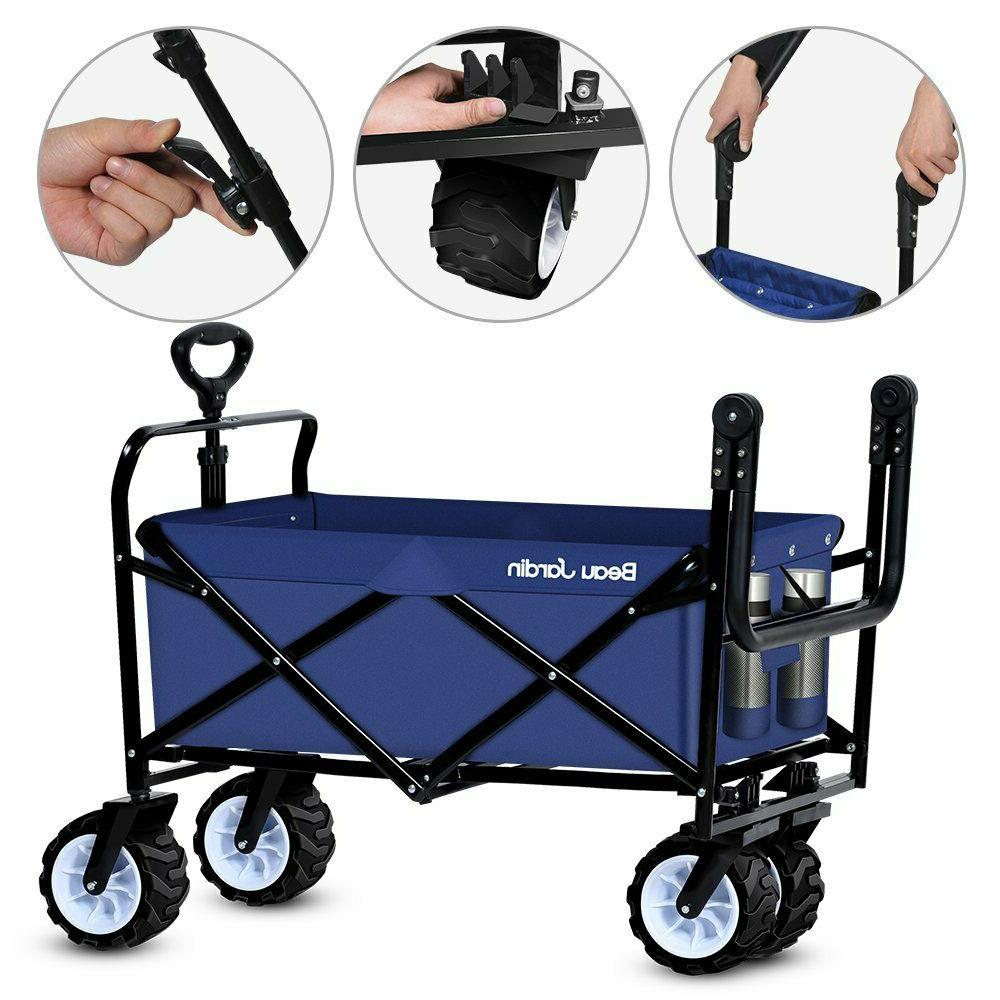 Collapsible Utility Wagon Camping Stroller