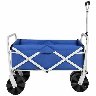 BCP Folding Wagon Garden Beach Cart All-Terrain Wheels