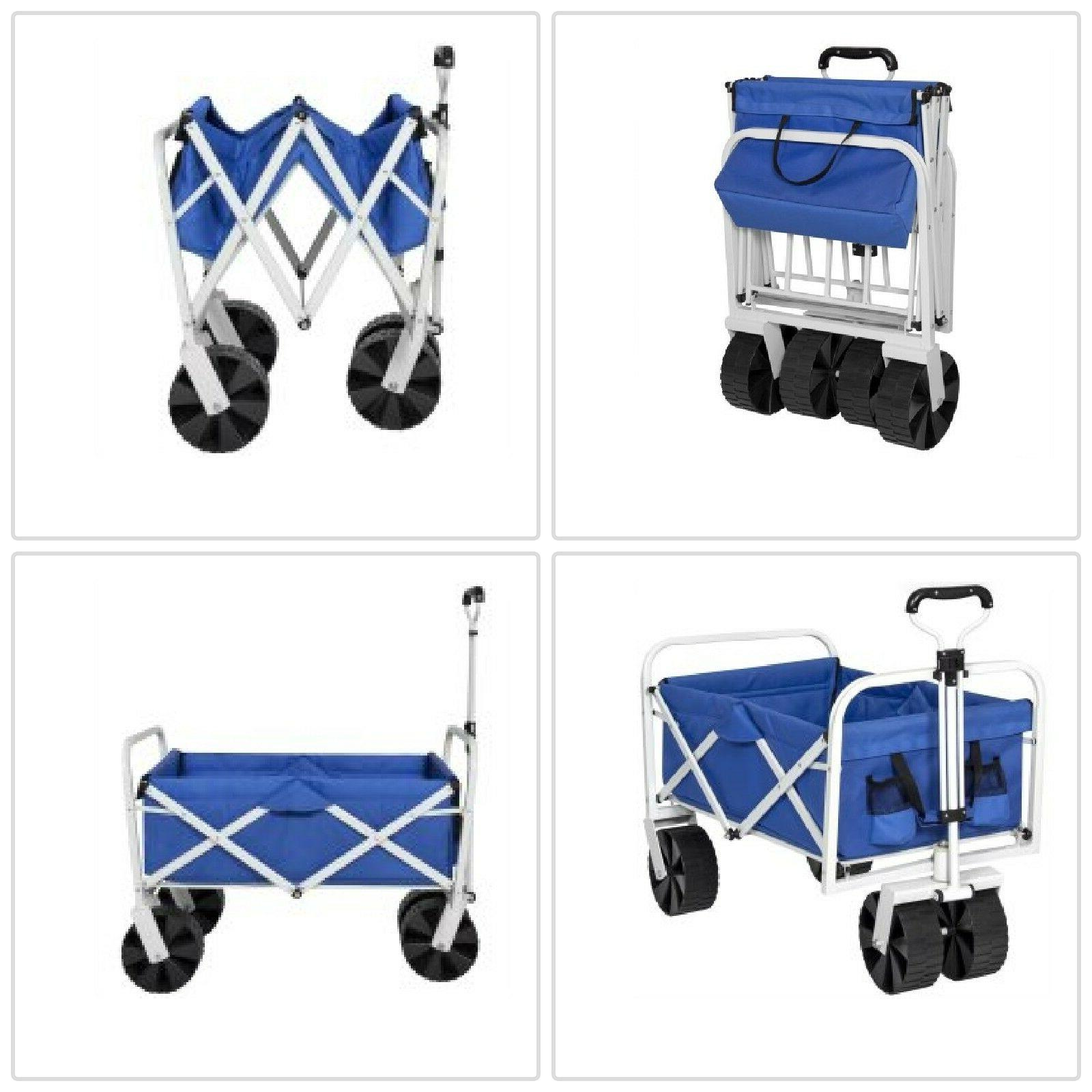 folding utility wagon garden beach