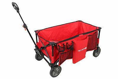 folding wagon collapsible utility cart telescoping handle