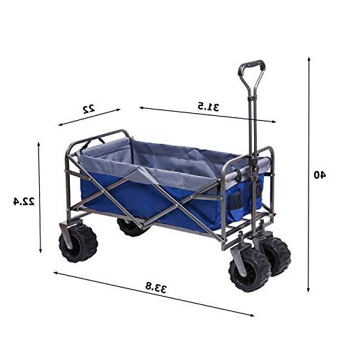 ARTPUCH Folding Wagon All-Terrain Collapsible Heavy and Wheels