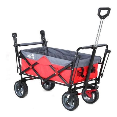 Folding Wagon w/ Garden Cart