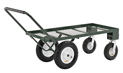 Sandusky Duty Steel Wheel Wagon with Pull Handle, 750 lbs 48""