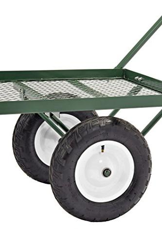 "Sandusky Steel Flat Wagon with Pull Handle, 750 Capacity, 48"" Length"