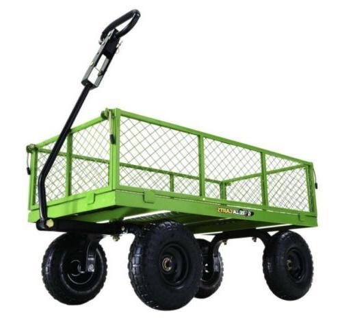 garden cart 800 steel lawn wagon gorilla