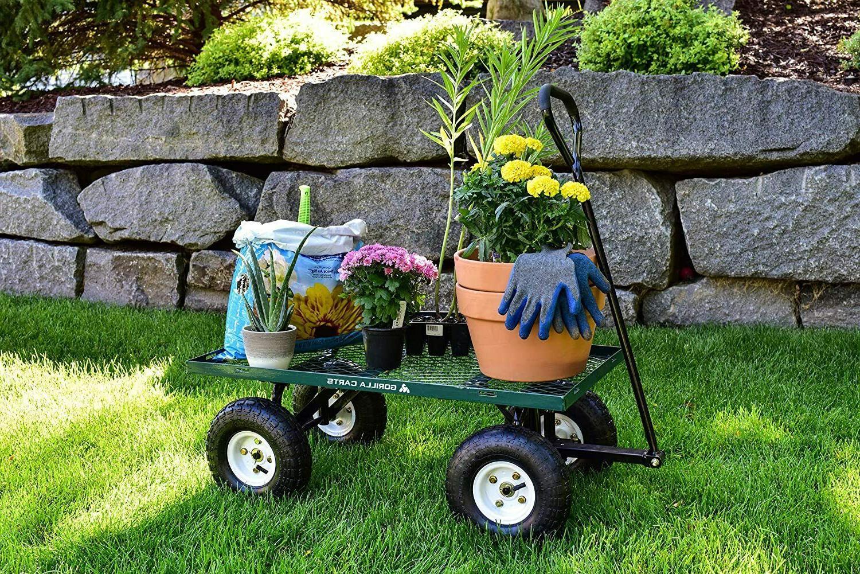 Garden Yard Dump Wagon Cart Lawn Cart Duty