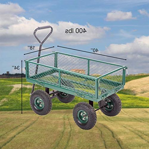 Garden Carts Wagon Cart Cart Outdoor Duty Beach Lawn Landscape