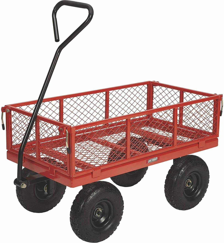 garden carts yard dump wagon steel utility