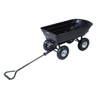 650LB Garden Dumper Wagon Carrier Wheel Barrow Tires Duty