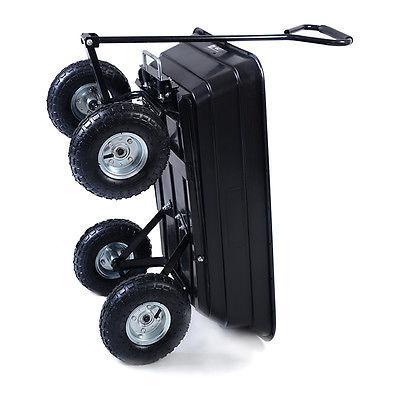 650LB Cart Dumper Wheel Barrow Air Tires Duty