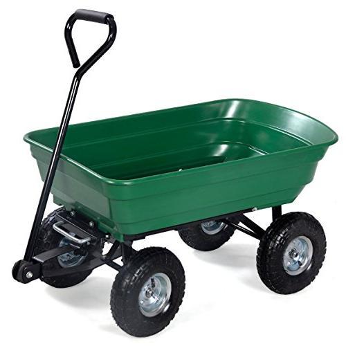garden dump cart dumper wagon
