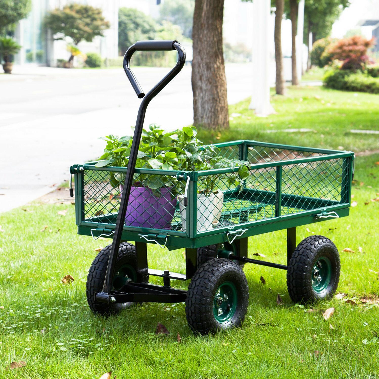 650LBS Garden Wheelbarrow Yard Lawn Duty w/ Sides