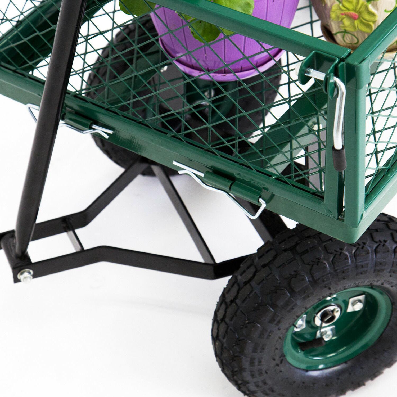 650LBS Wheelbarrow Yard Lawn Heavy Duty Removable