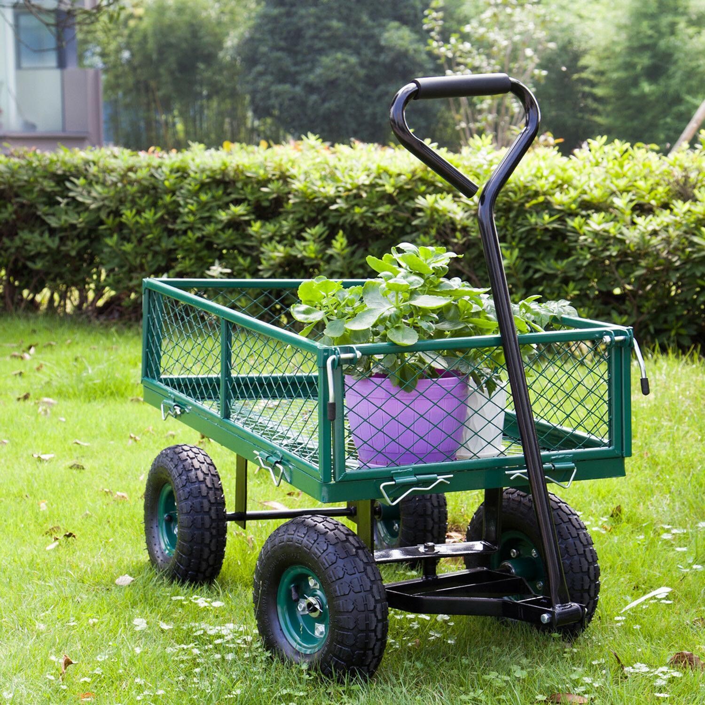 garden utility wagon wheelbarrow yard