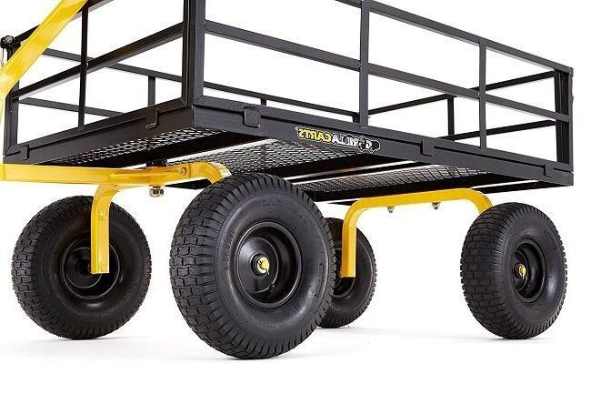 Garden Wagon Heavy Cart Utility Yard Lb