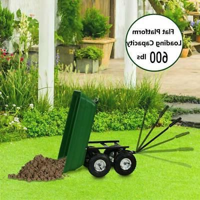Garden Dump Dumper Wagon Barrow Heavy Duty Tool