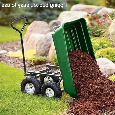 Garden Dumper Wagon Barrow Duty Outdoor Tool