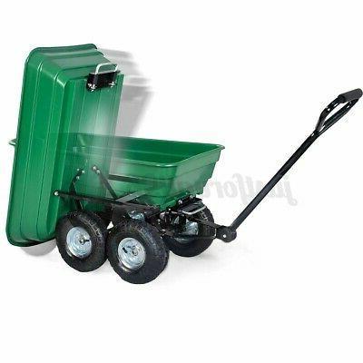 Garden Dumper Carrier Wheel Barrow Duty Tool