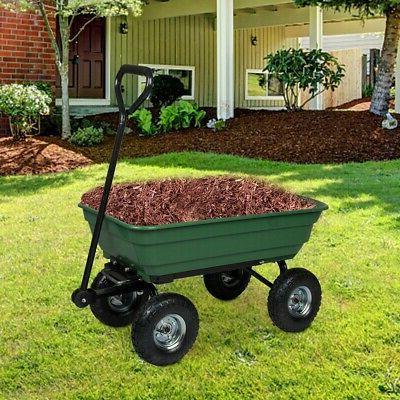 garden yard dump cart dumper wagon carrier