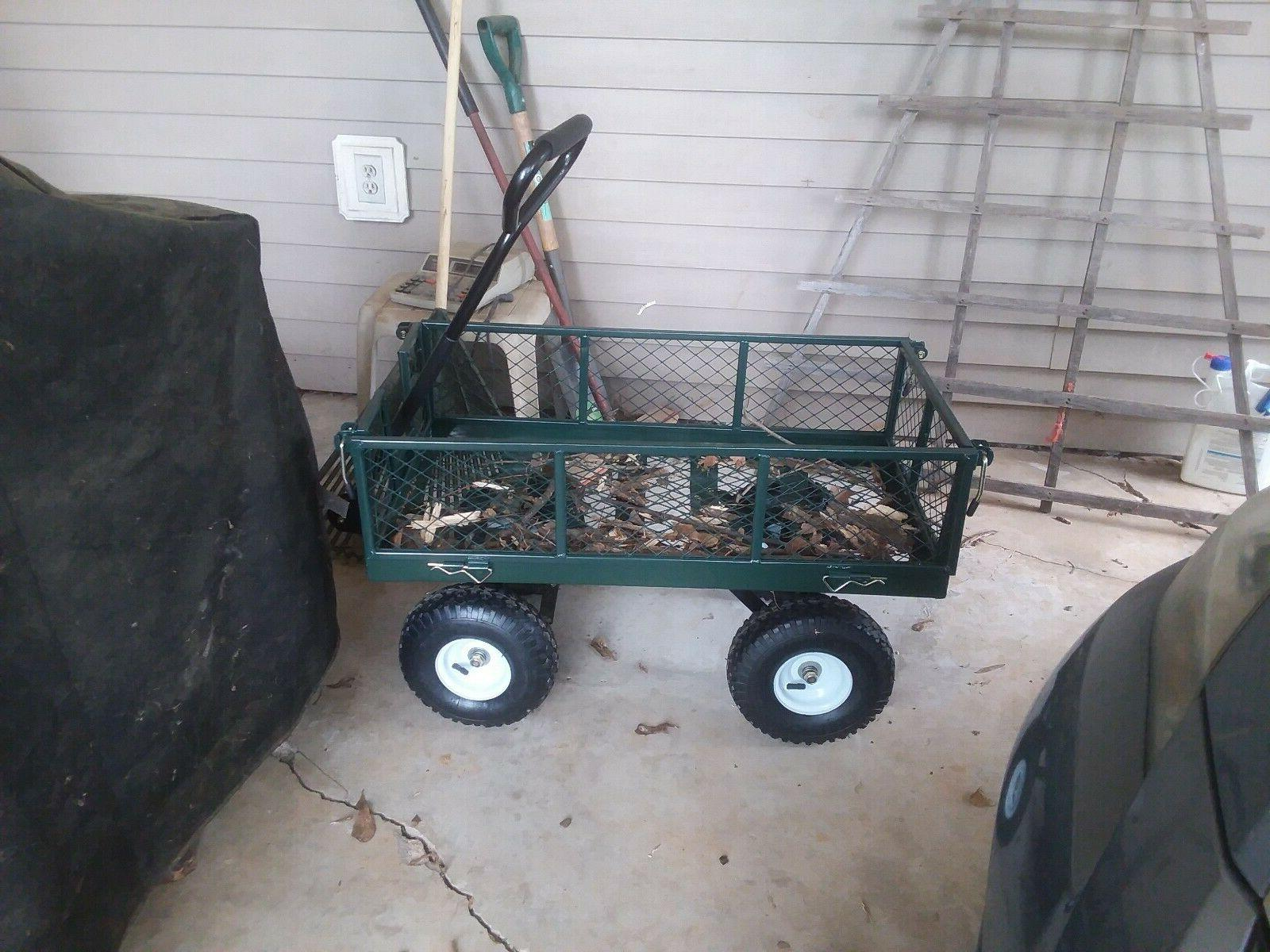 Garden Yard Cart Utility Wheel barrow Duty
