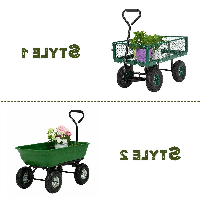 garden yard lawn dump cart dumper wagon