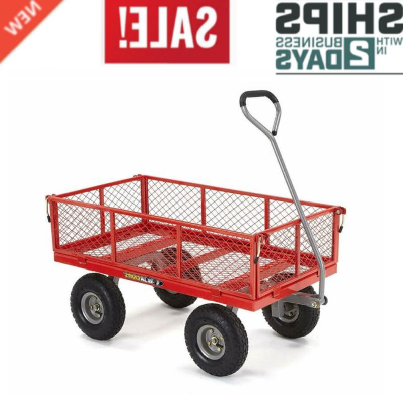 gor800 com steel utility cart with removable