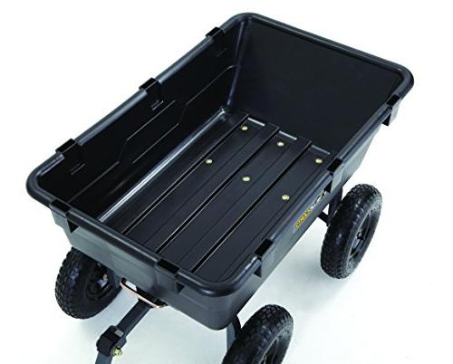Gorilla Poly Cart with 2-In-1 Handle, 1,200-Pound Capacity, Black
