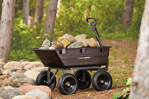Gorilla GOR6PS Poly Yard with 2-In-1 1,200-Pound Black