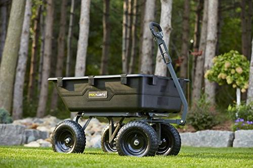 Gorilla Carts GOR6PS Poly with 1,200-Pound Black