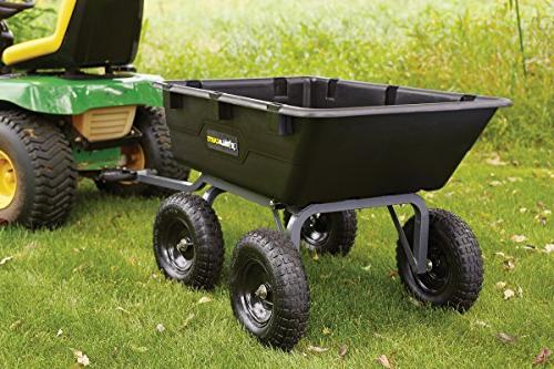 Gorilla Carts GOR6PS Poly Yard with 2-In-1 Convertible Handle, 1,200-Pound Capacity,