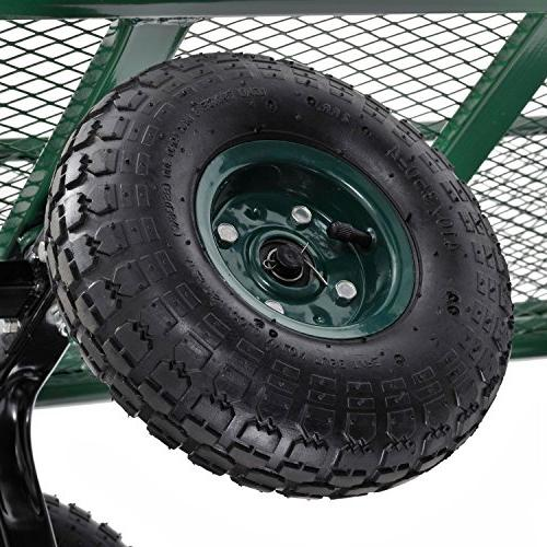 "Sandusky x 18"" Heavy-Duty Jumbo Crate Wagon, Green"