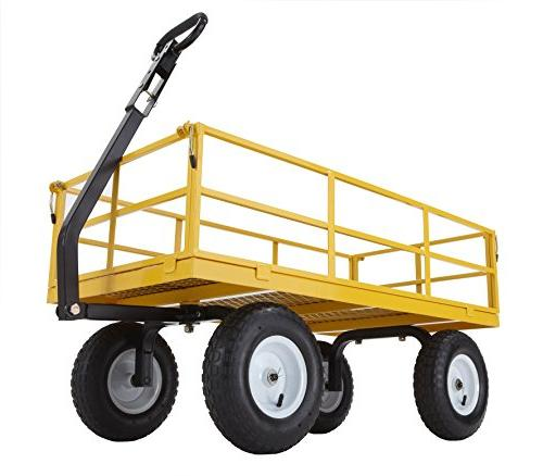 Gorilla Carts Steel Utility Sides Tires, 1200-lbs. Capacity, Yellow