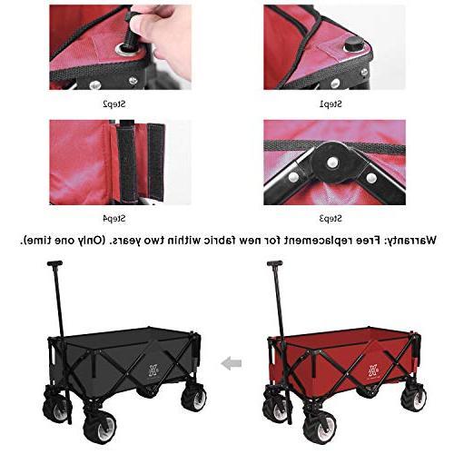 BXL Folding Garden Cart Utility Wagon